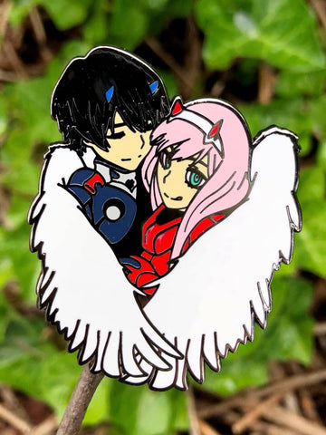 """Hiro x Zero Two"" Enamel Pin"