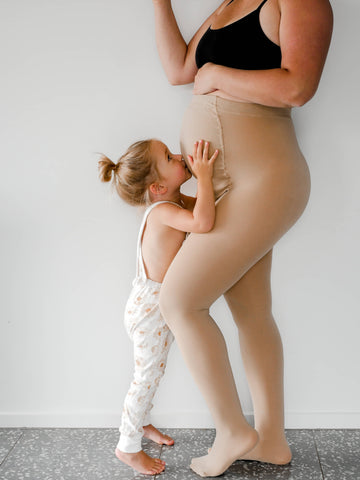 Adjustable Maternity Tights - Bubba Bump