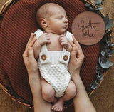 Earth Side Wooden Birth Announcement Disc - Bubba Bump