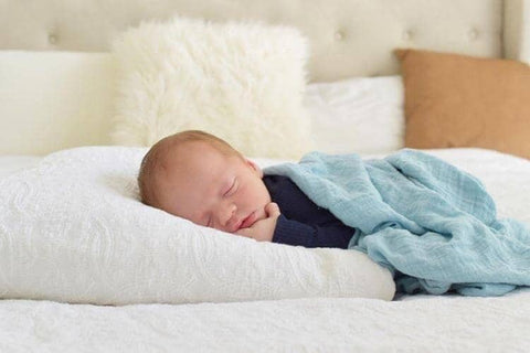 Deep Blue Sea Organic Bamboo Muslin Wrap