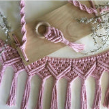 Dusty Pink Macrame Teether - Bubba Bump
