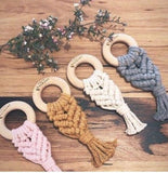 Mustard Macrame Teether - Bubba Bump