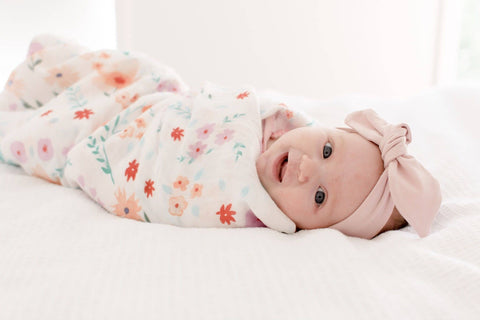 Bloom Bamboo Muslin Wrap - Bubba Bump