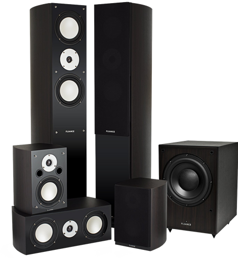 Fluance Xlhtb Dw High Performance 5.1 Speaker Surround Sound Home Theater System