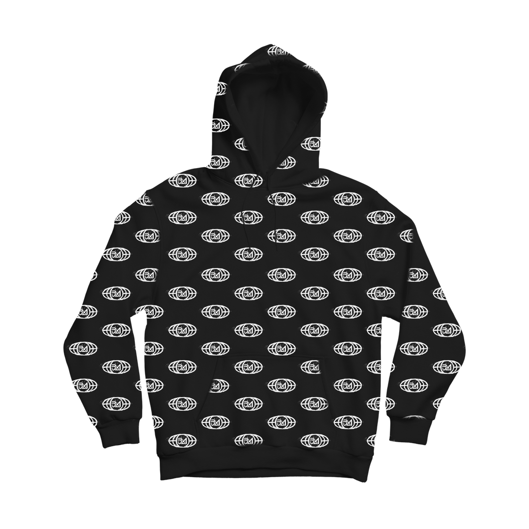 ALL OVER PRINT LOGO HOODIE