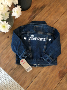 Custom Baby/Toddler Levi's Jacket