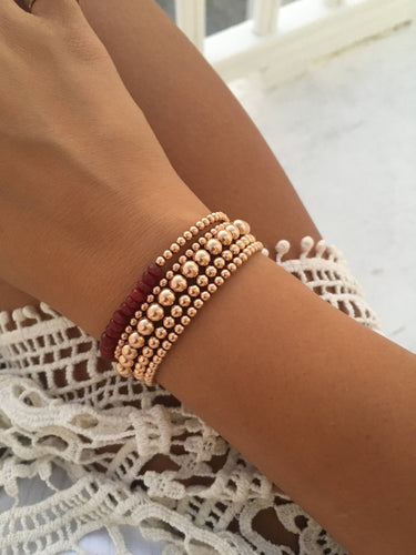 Gold Filled Ball Bracelet with Colored Accents