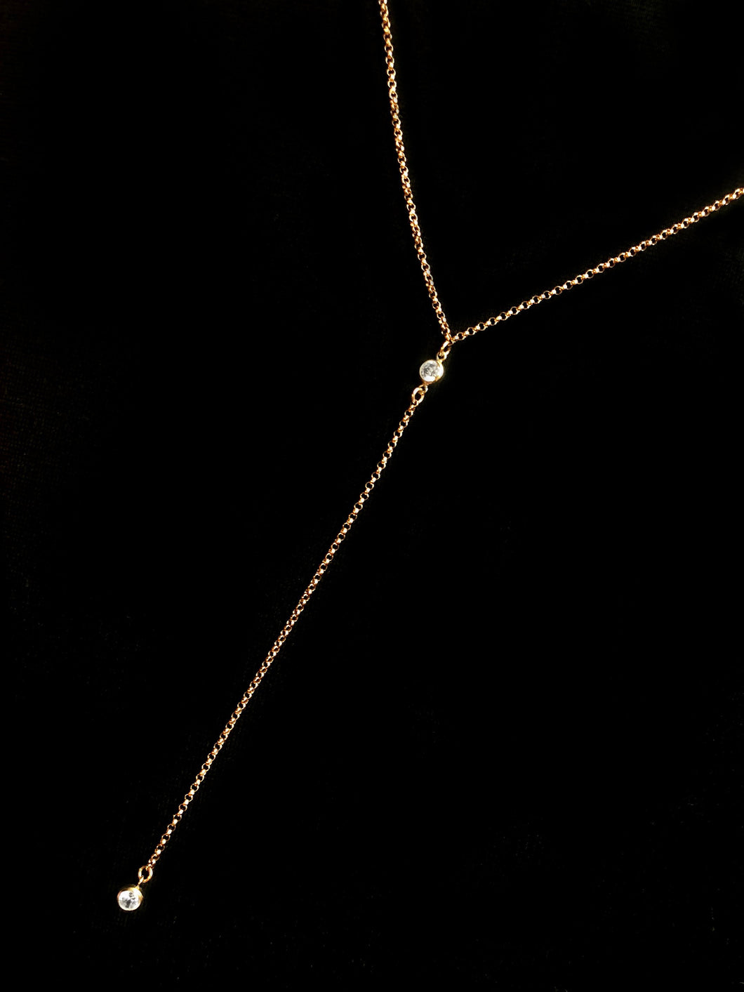 Gold Filled Lariat Necklace