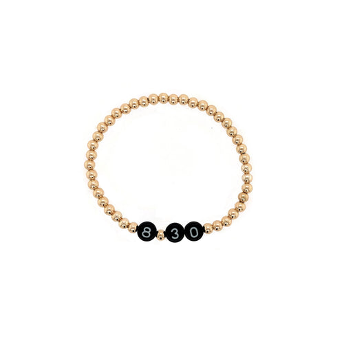 Gold and Black Name Bracelet