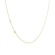 Load image into Gallery viewer, Lex 14k Sideways Initial Necklace