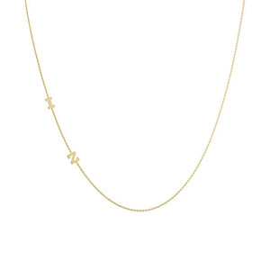 Lex 14k Sideways Initial Necklace