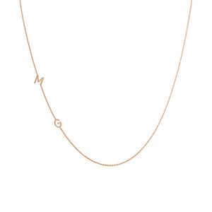 Jay 14k Sideways Initial Necklace