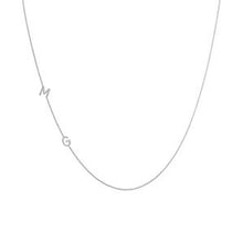 Load image into Gallery viewer, Jay 14k Sideways Initial Necklace