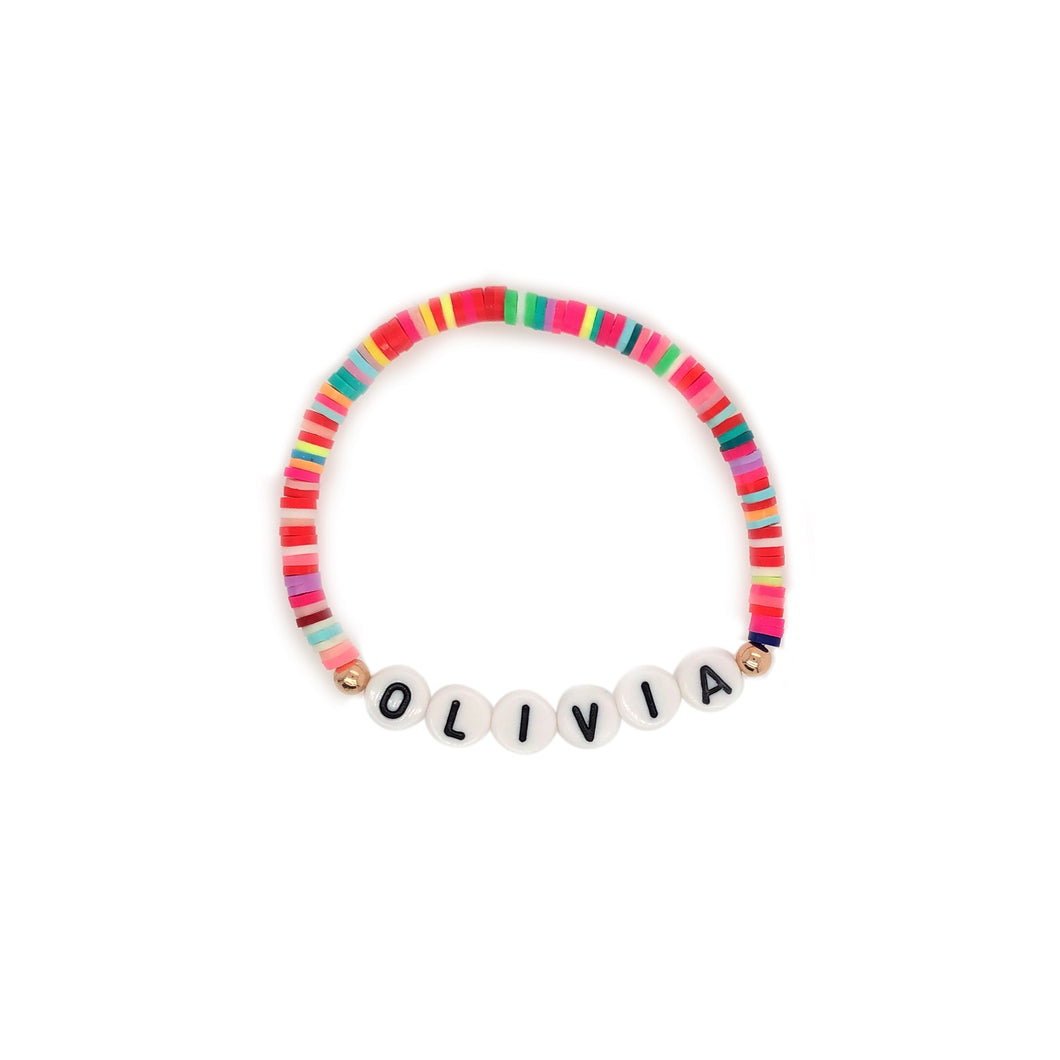 Custom Rainbow Name Bracelet