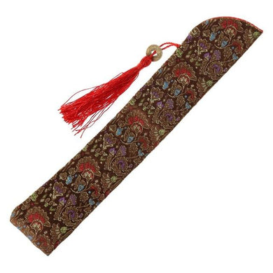 Etui de protection en soie marron