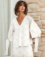 Apartment Clothing Daisy Tie Sleeve Top