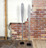 Borneo Antique Boat Oar on Stand