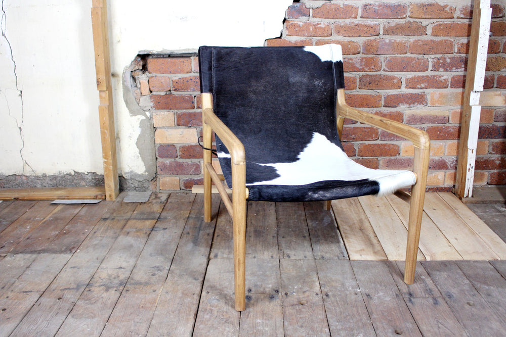 Fenton Cow Hide Sling Back Chair
