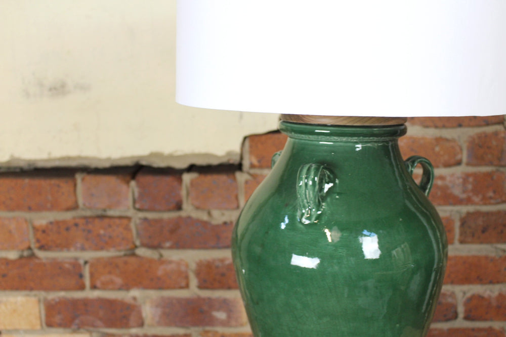 Francis Ceramic Table Lamp (Green)