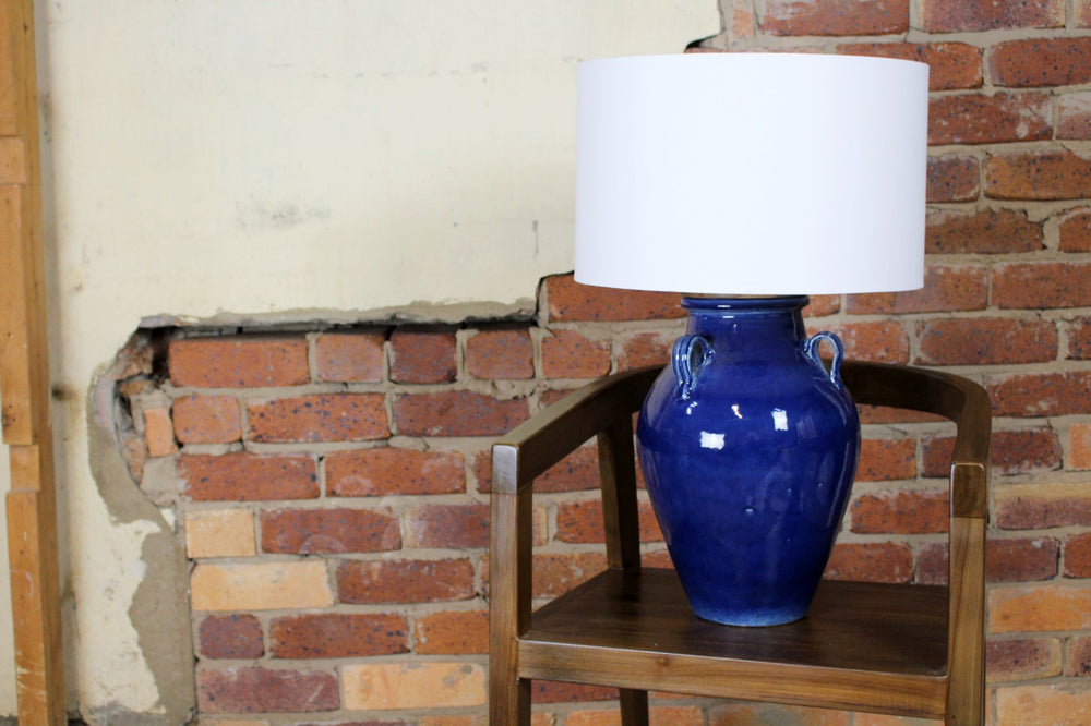 Francis Ceramic Table Lamp (Blue)
