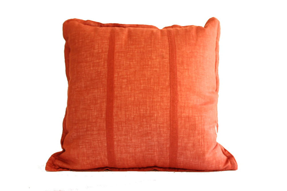 H.A.K Pure Linen Cushion (Burnt Orange)