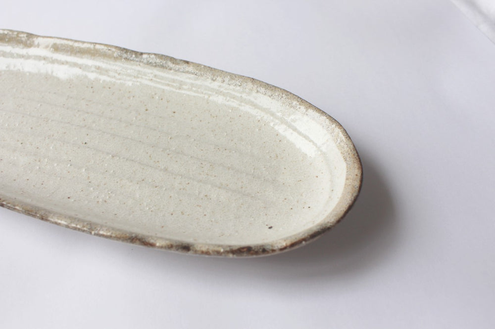 Speckle Ceramic Long Oval Platter
