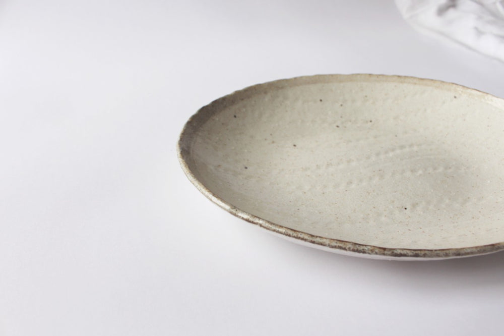 HAK Speckle Oval Plate