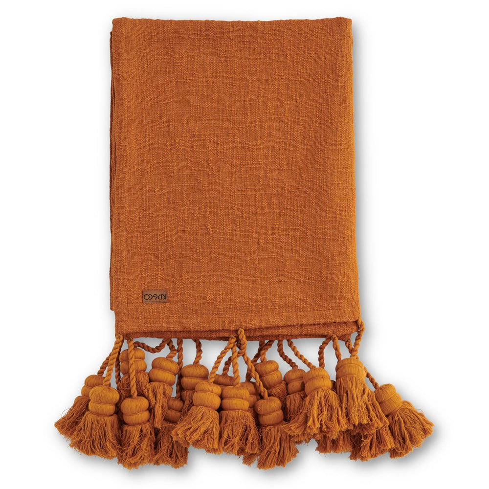 Kip & Co Inca Gold Tassel Throw