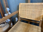 Malay wood and rattan arm chair