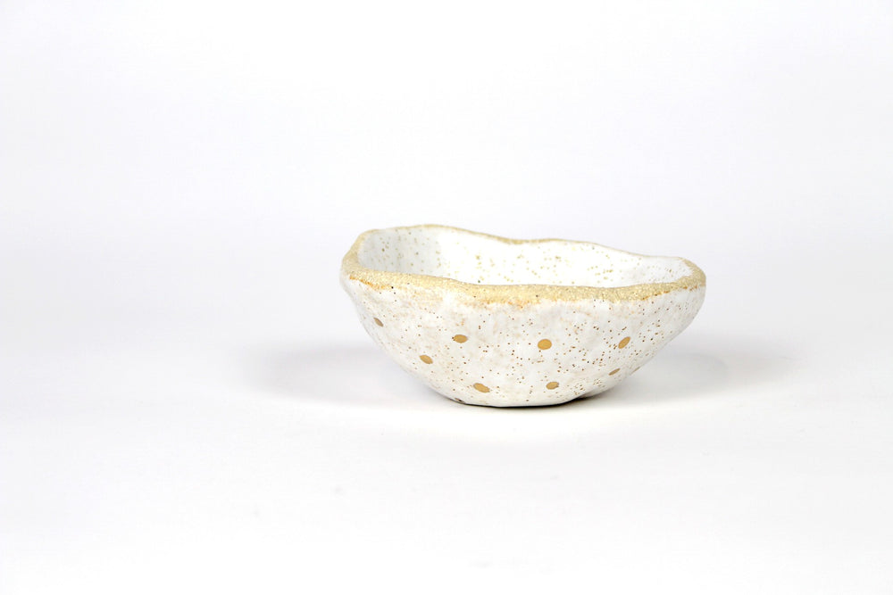 Angela Edwards organic gold spot bowl
