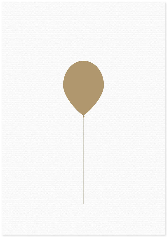 Letter Press Gift Card - Gold Balloon