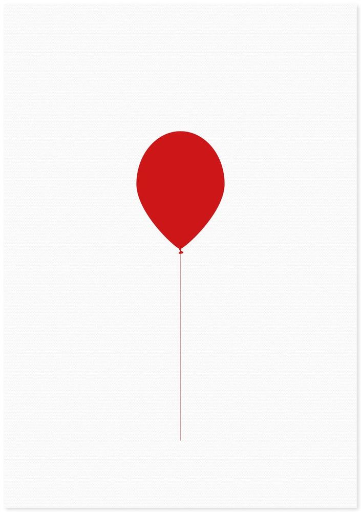Letter Press Gift Card - Red Balloon