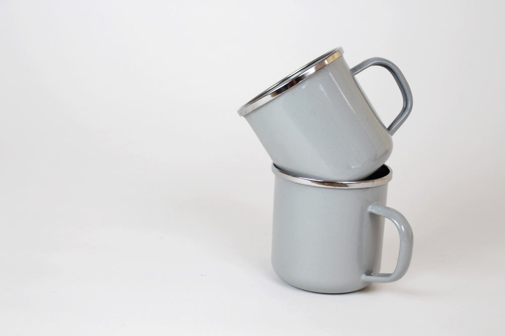 Grey Enamel Coffee Mug