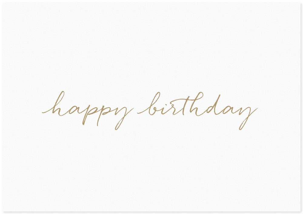 Letter Press Gift Card - Birthday