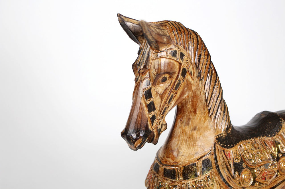 Hedley Antique Wooden Horse