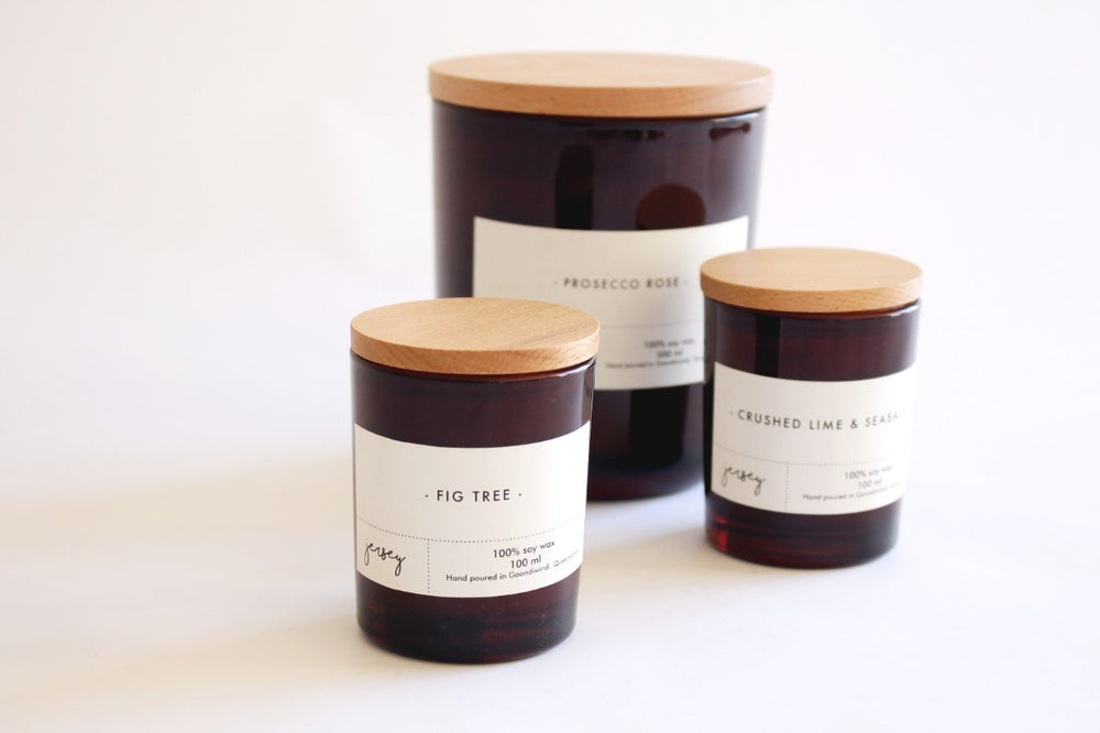 Modern Amber Soy Candles (Large)