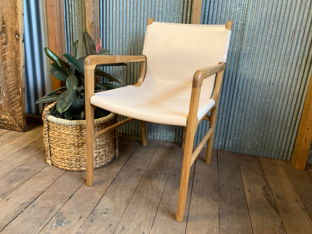 Keir Leather relaxed dining chair