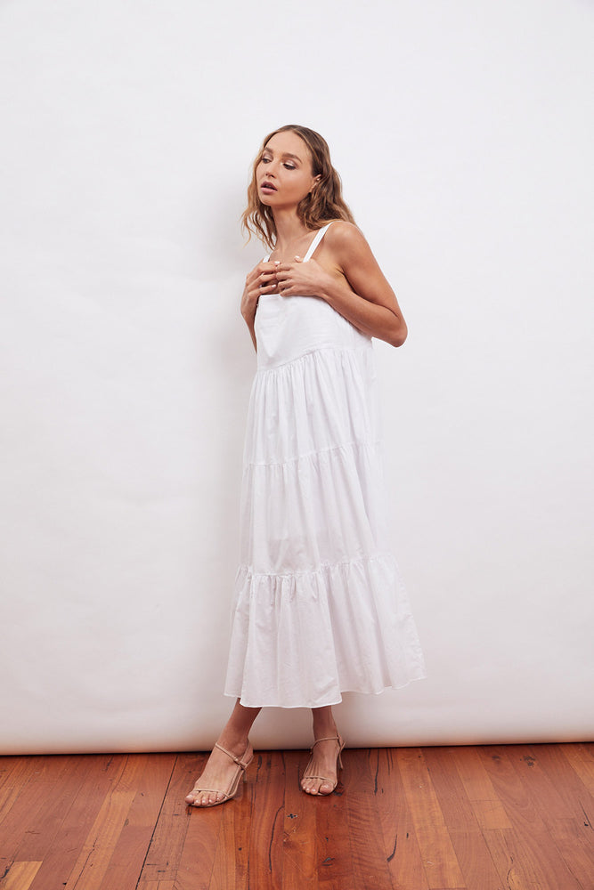 MLM Label Flora Midi Dress (White)