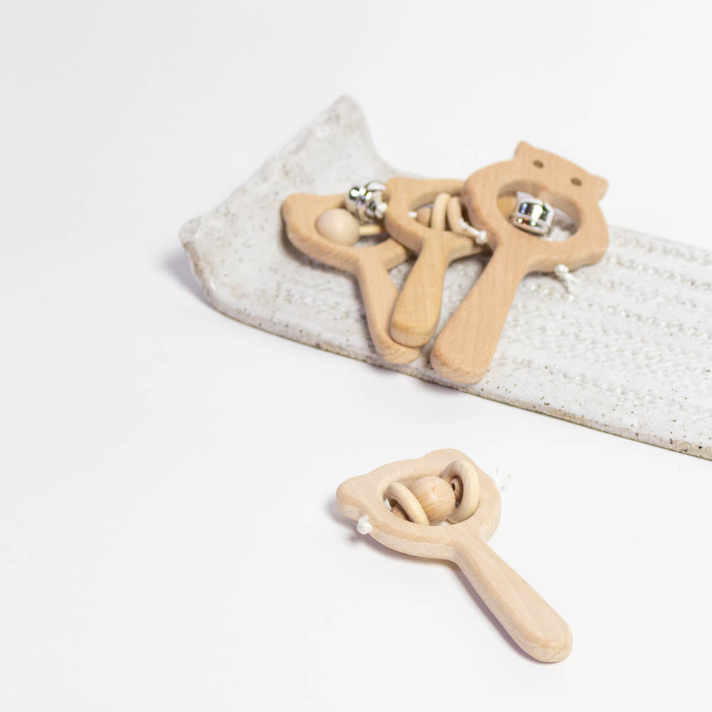 Natural Baby Rattle Toy