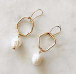 Organic Shaped Pearl Earrings