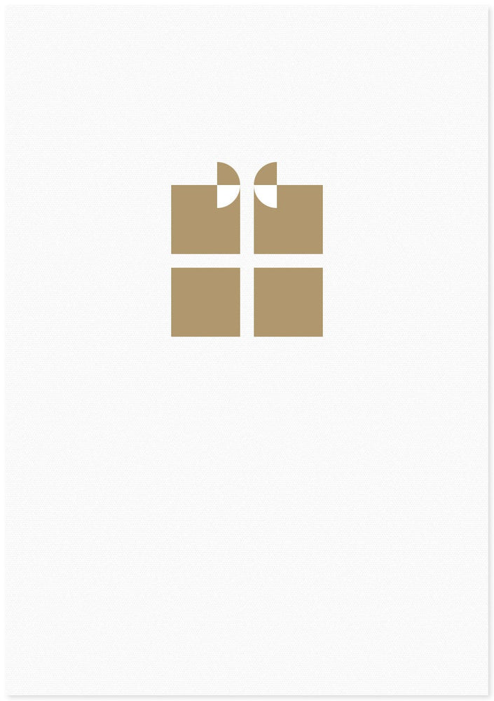 Letter Press Gift Card - Present