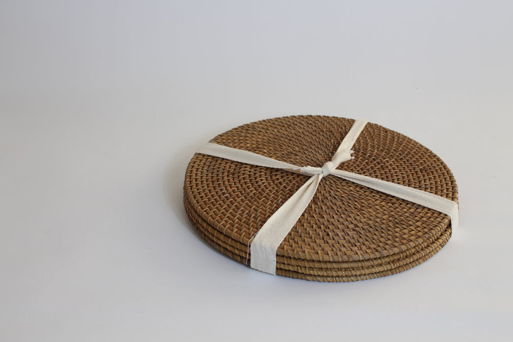 Rattan Place Mats (Round)