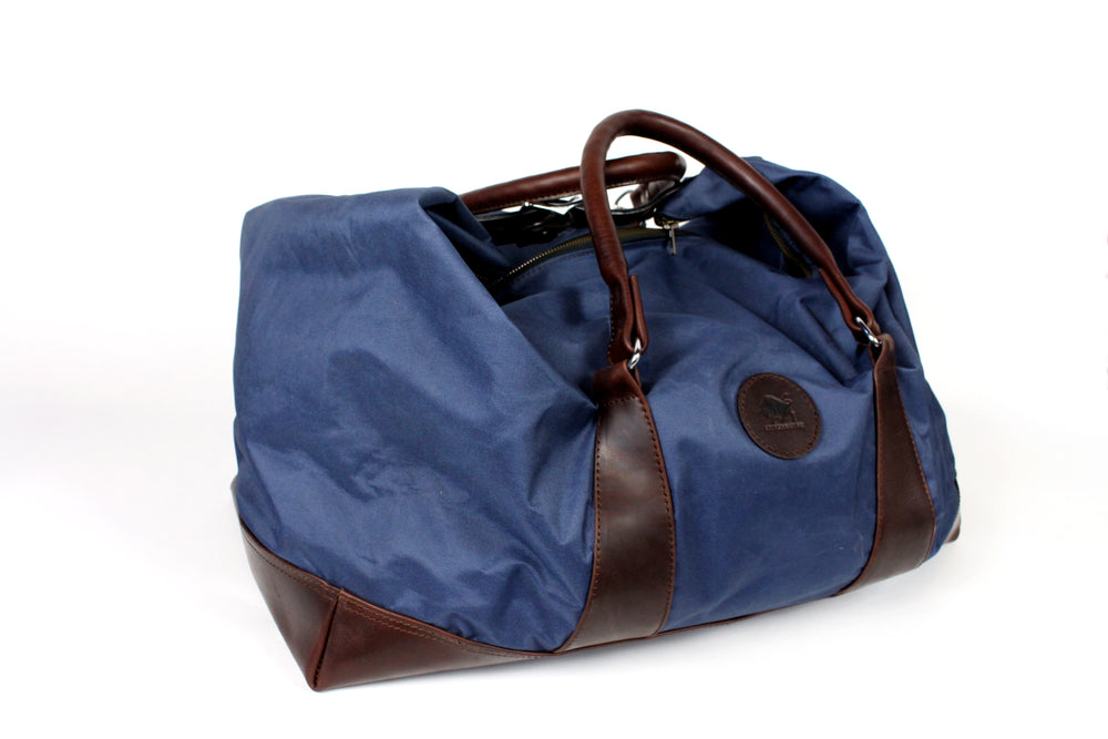 Leather and Canvas Overnight Bag