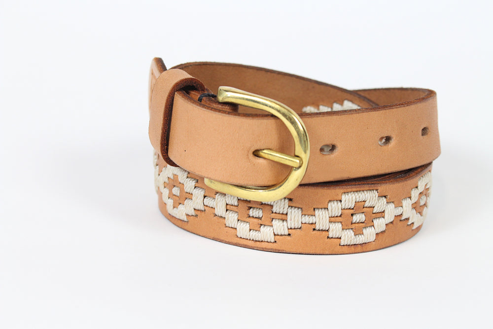 Stitch and Hyde Gaucho Belt (Tan/White)