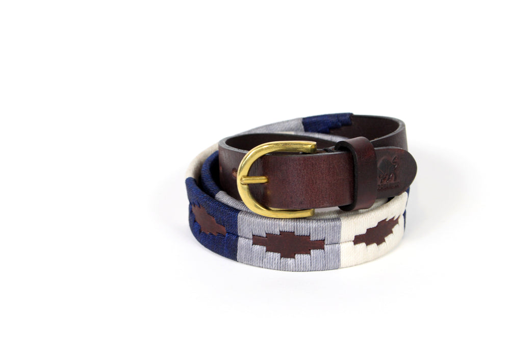 Stitch and Hyde Gaucho Belt (Navy/Grey/White)