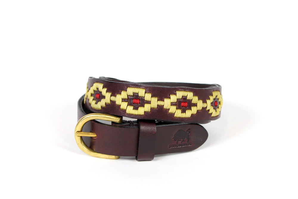 Stitch and Hyde Gaucho Belt (Cream/Red)