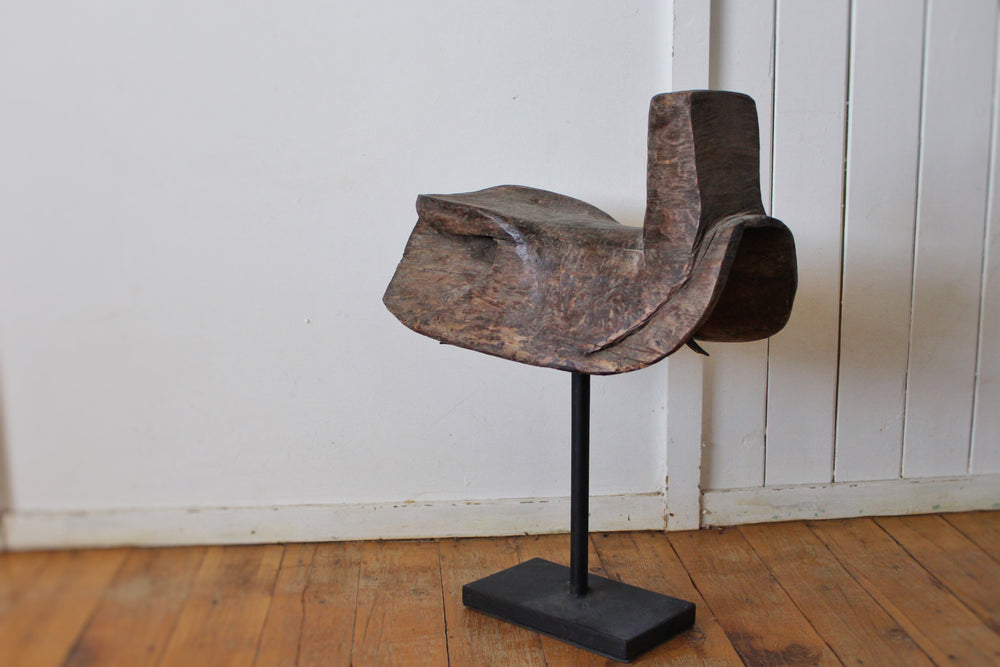Wooden Saddle on Stand