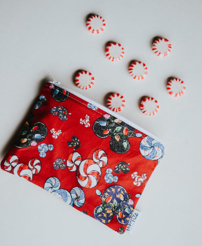 Mouse Mints Red, Reusable Snack Bags