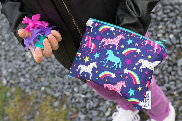 Reusable Snack Bags, Neon Unicorn