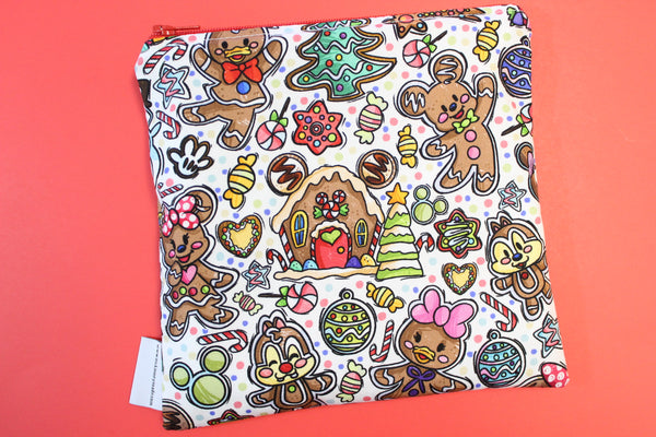 Gingerbread Mouse White, Snack Bags